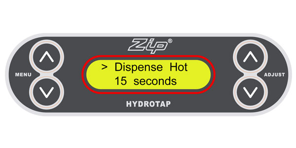 How to adjust the dispense time – Zip HydroTap G3
