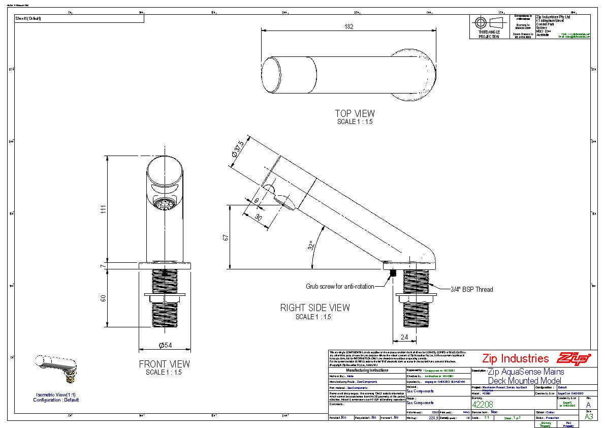 zip hydrotap instruction manual